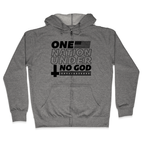 Ungodly Nation Zip Hoodie