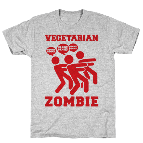 Vegetarian Zombie Mens T-Shirt