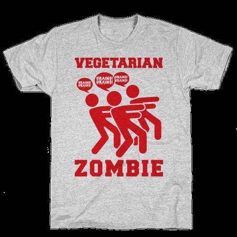 Vegetarian Zombie Mens T-Shirt
