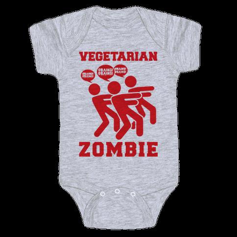 Vegetarian Zombie Baby Onesy