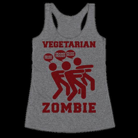 Vegetarian Zombie Racerback Tank Top