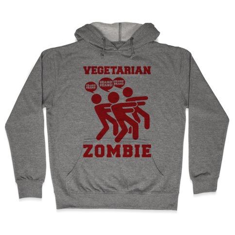 Vegetarian Zombie Hooded Sweatshirt