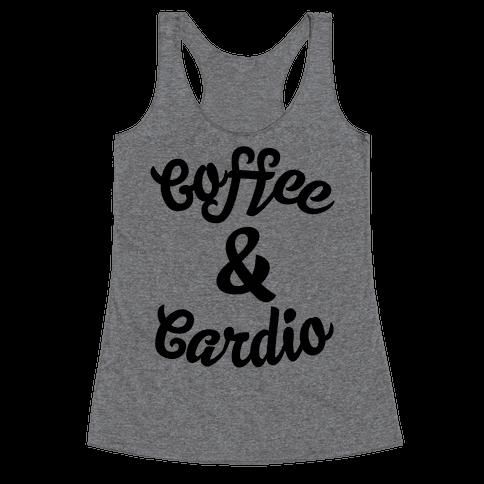Coffee & Cardio Racerback Tank Top