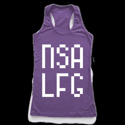 NSA LFG Racerback Tank Top