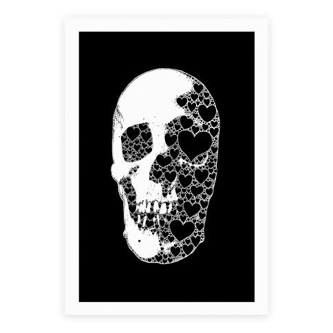 Heart Skull Poster