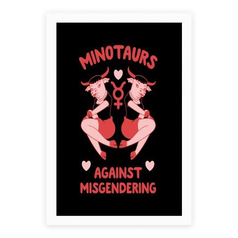 Minotaurs Against Misgendering Poster