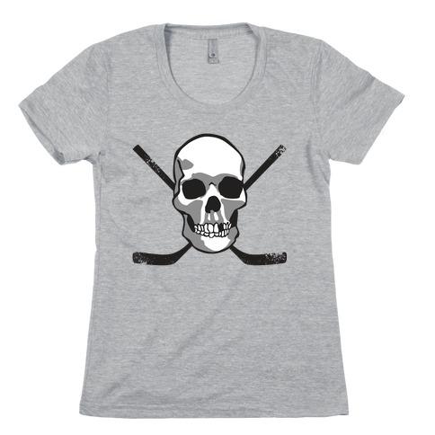 Hockey Skull Womens T-Shirt