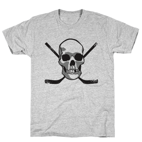 Hockey Skull Mens T-Shirt