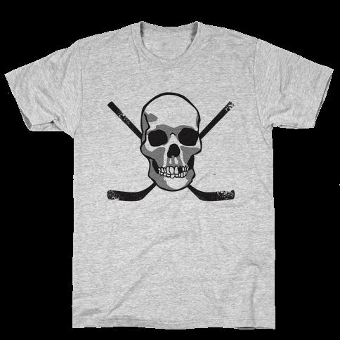 Hockey Skull Mens T-Shirt