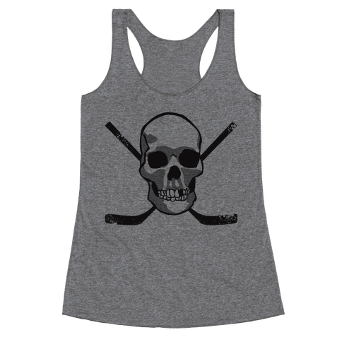 Hockey Skull Racerback Tank Top