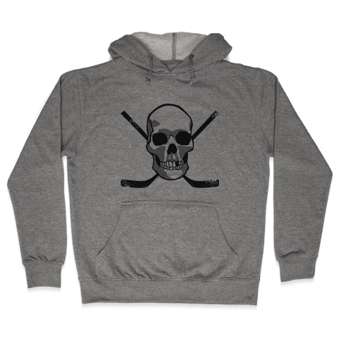 Hockey Skull Hooded Sweatshirt