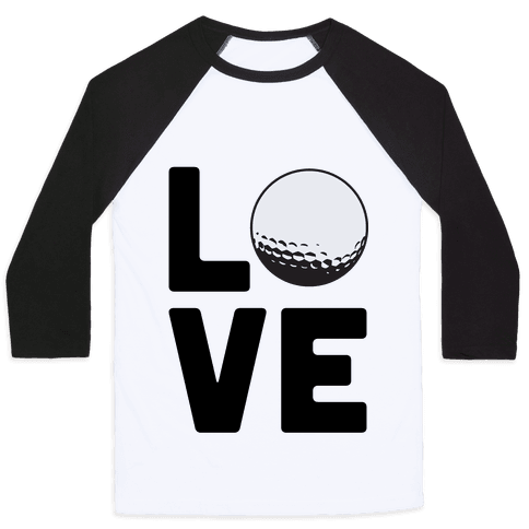 Love Golf Baseball Tee