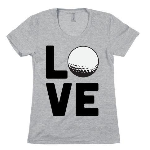 Love Golf Womens T-Shirt