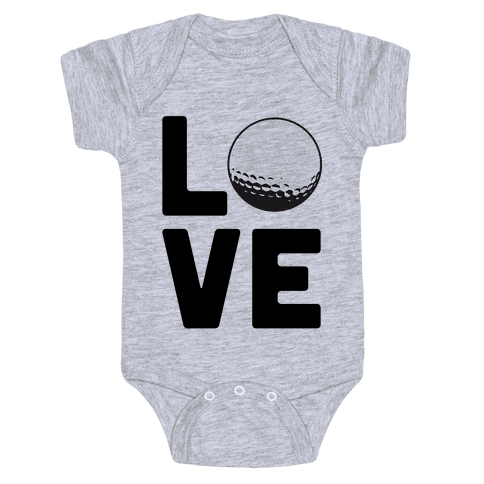 Love Golf Baby Onesy