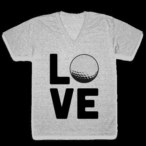 Love Golf V-Neck Tee Shirt