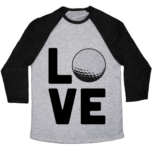 Love Golf Baseball Tee