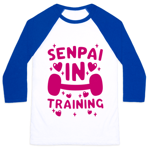 Senpai In Training Baseball Tee