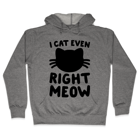 I Cat Even Right Meow Hooded Sweatshirt