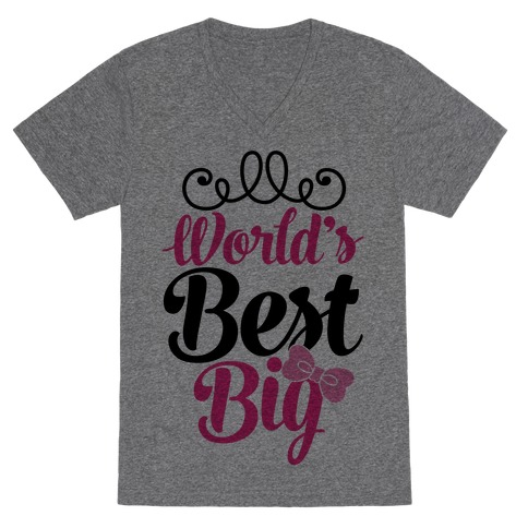 World's Best Big V-Neck Tee Shirt