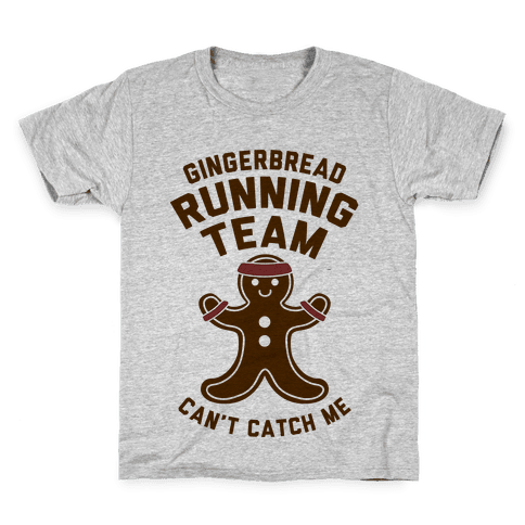 Gingerbread Running Team Kids T-Shirt