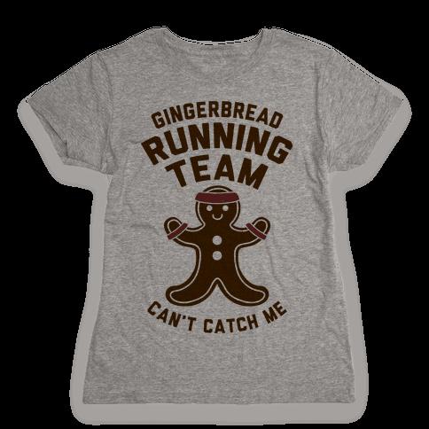 Gingerbread Running Team Womens T-Shirt