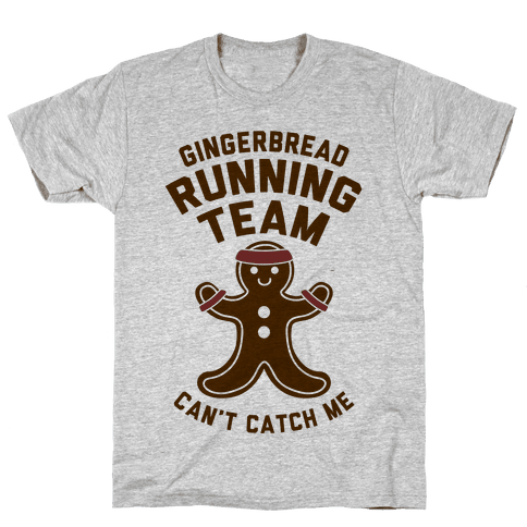 Gingerbread Running Team Mens T-Shirt