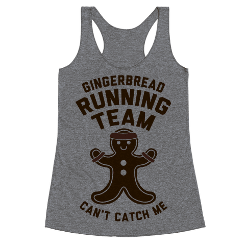 Gingerbread Running Team Racerback Tank Top