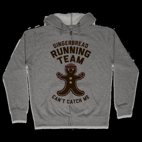 Gingerbread Running Team Zip Hoodie