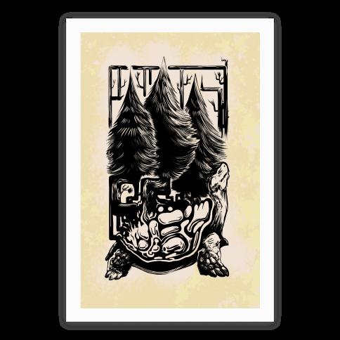 Tree Tortoise Poster