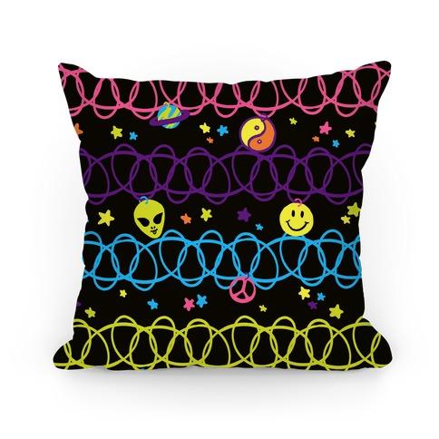 90s Cosmic Choker Pattern Pillow