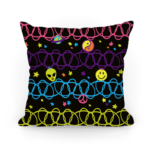 90s Cosmic Choker Pattern Pillow