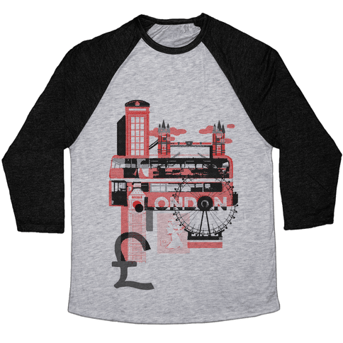 London Travel Visit Baseball Tee
