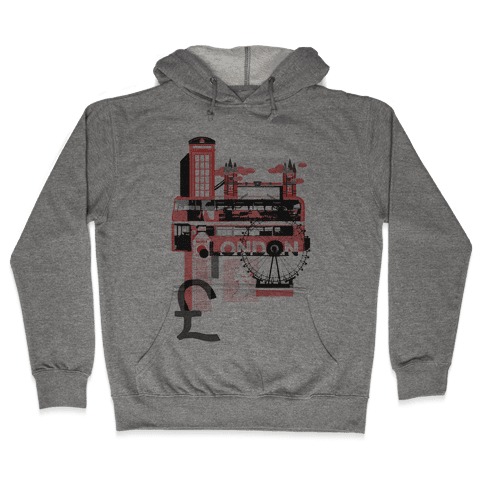 London Travel Visit Hooded Sweatshirt