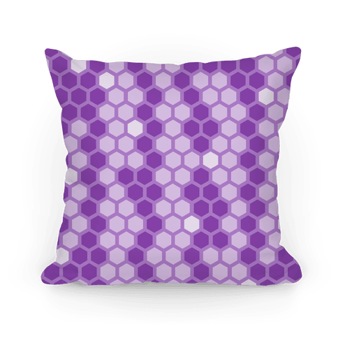 Purple Geometric Honeycomb Pattern Pillow