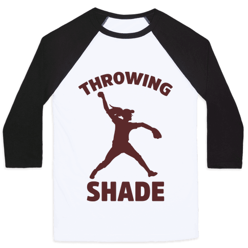 Throwing Shade (Softball) Baseball Tee