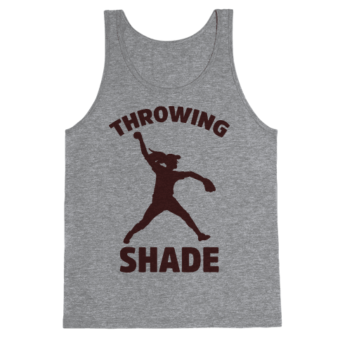 Throwing Shade (Softball) Tank Top