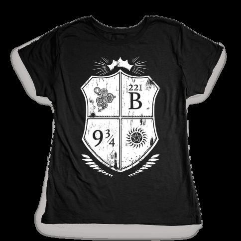 Fandom Family Crest Womens T-Shirt