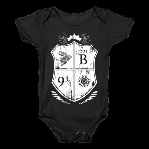 Fandom Family Crest Baby Onesy