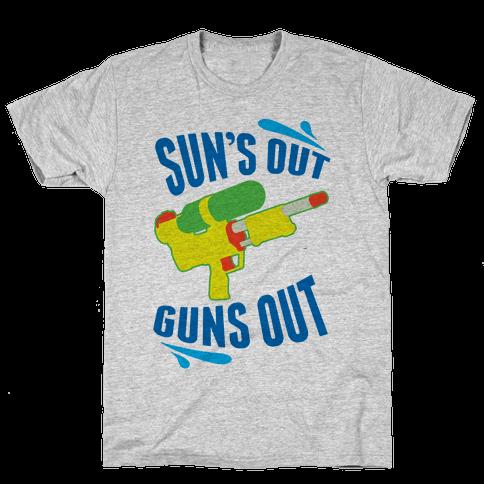 Suns Out, Guns Out Mens T-Shirt