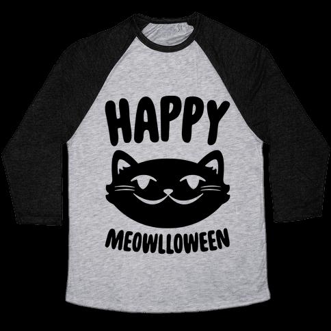 Happy Meowlloween Baseball Tee