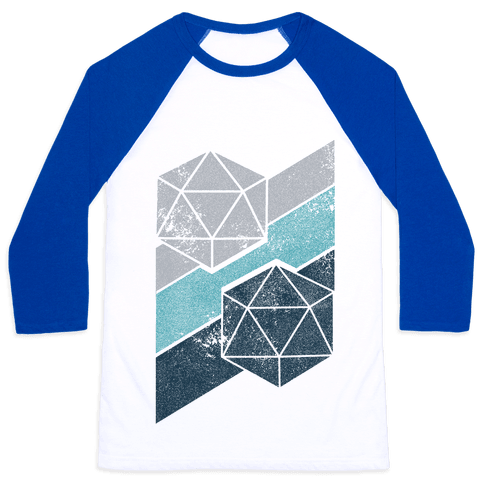 Winter Icosahedron Baseball Tee