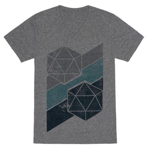 Winter Icosahedron V-Neck Tee Shirt