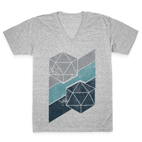 Winter Icosahedron V-Neck Tee Shirt