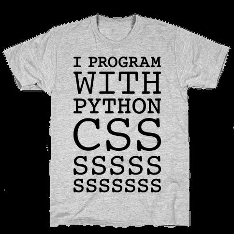 I Program With Python CSS Mens T-Shirt