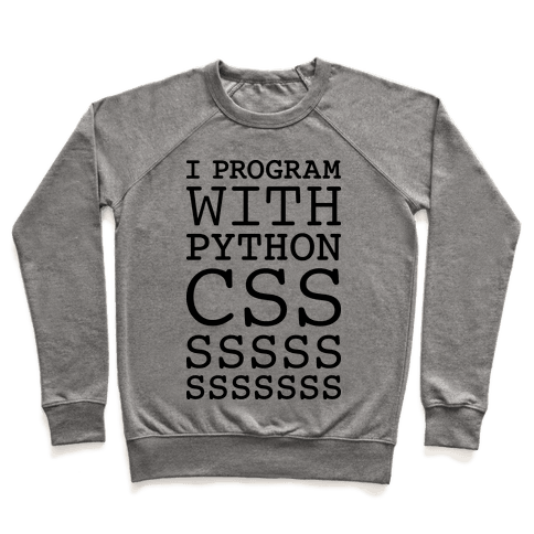 I Program With Python CSS Pullover