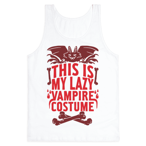 This Is My Lazy Vampire Costume Tank Top