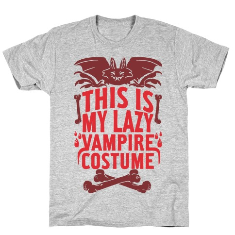 This Is My Lazy Vampire Costume T-Shirt