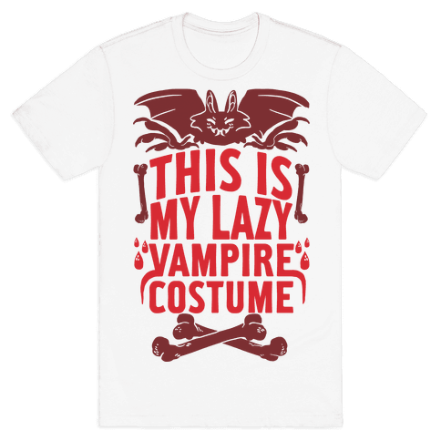 This Is My Lazy Vampire Costume Mens T-Shirt