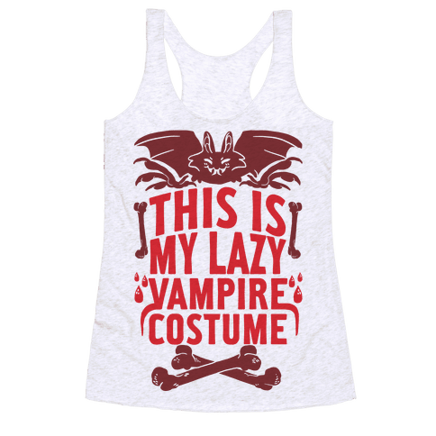 This Is My Lazy Vampire Costume Racerback Tank Top