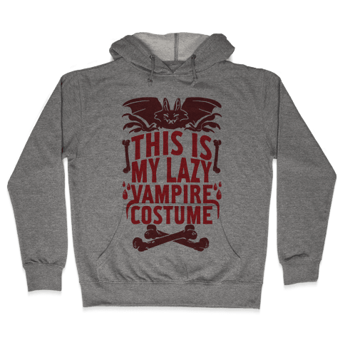 This Is My Lazy Vampire Costume Hooded Sweatshirt